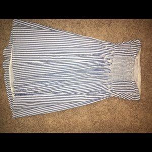 Old Navy Seersucker Strapless Dress